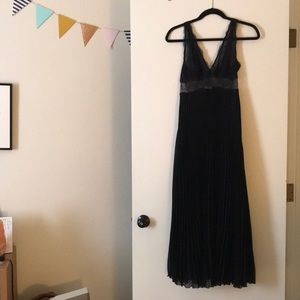 Black lace night gown